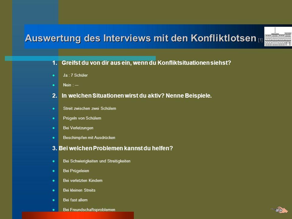 Auswertung des Interviews mit den Konfliktlotsen [1]